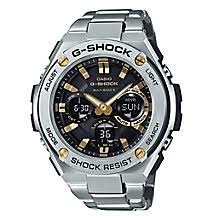 g shock watches men s and ladies h samuel g shock g steel black dial stainless steel bracelet watch product number 5267129