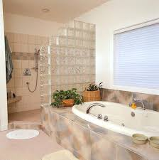 glass block bathroom ideas to make the most of the available space in this bathroom the