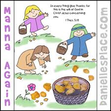 Small Picture Manna Again Coloring and Activity Sheet from wwwdaniellesplace
