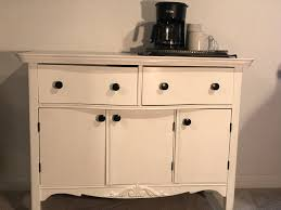 The pallet is used as a sliding door, which is an excellent idea. A Dresser To A Coffee Station Buffet Table R Home Styled