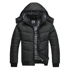 winter jacket men quilted black puffer coat warm fashion male ... & winter jacket men quilted black puffer coat warm fashion male overcoat parka  outwear polyester padded hooded Winter coat-in Parkas from Men's Clothing  ... Adamdwight.com