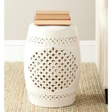 ceramic garden seat. Brilliant Garden Safavieh Quatrefoil Cream Ceramic Patio Stool Inside Garden Seat Q