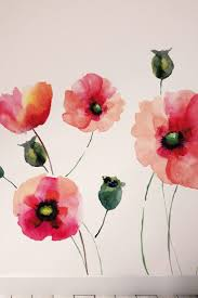 room wall decor uk beautydecoration removable wall murals watercolor poppies wall art kit by brewster home