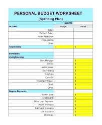 Budget Expense Sheet Free Personal Budget Template 9 Excel Documents Weekly
