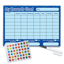 Reusable Reward Charts For Toddlers Funky Monkey House Re Usable Reward Chart Including Free Star Stickers And Pen Blue Stars