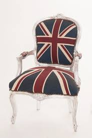 union jack chair french louis style union jack chair with silver frame good condition