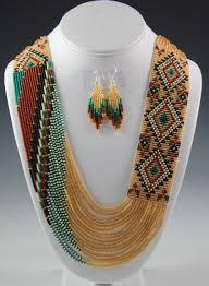 navajo bead designs. Necklaces Cute Native American Beadwork: Navajo Beaded Necklace Rena Charles Sedona Bead Designs
