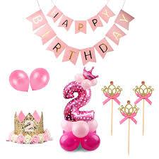 <b>Staraise</b> 2nd Birthday <b>Party</b> Decoration Pink Girl 2 Birthday Balloons ...