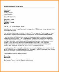 Ideas Of 8 Esl Teacher Cover Letter With Additional Cover Letter For