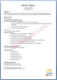 Awesome Respiratory Resume Photos Simple Resume Office Templates
