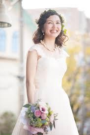 花嫁のヘアスタイルナチュラルなダウンスタイルハーフアップ