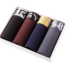 Innersy Shorts Mens <b>4Pcs</b><b>Lot</b> Underwear Soft Boxers <b>Cotton</b> Boxer ...