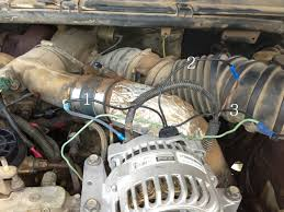 2000 f250 7 3 alternator wiring help ford truck enthusiasts forums Bc Alternator Wiring Diagram it runs to a light green red wire in the harness but also splits out and goes directly to the negative battery terminal corsa b alternator wiring diagram