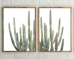 set of 2 prints desert cactus prints wall decor cactus botanical cactus prints wall art prints succulents art prints australia printable art on wall art prints etsy with cactus print etsy