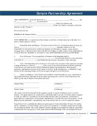 Limited Partnership Agreement Template 43 Printable Limited Partnership Agreement Forms And Templates
