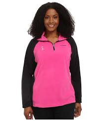 plus size columbia jackets columbia plus size tested tough in pink fleece half zip pink ice