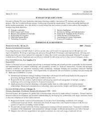 Sample Resume Business Development Executive Job New International