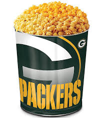 green bay packers 3 flavor popcorn tins