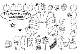 Monarch Caterpillar Coloring Page Very Hungry Butterfly Sheet Pages