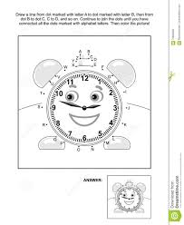 Dot-to-dot And Coloring Page With Alarm Clock Stock Vector - Image ...
