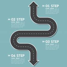 Road Infographic Template With Text Vector Premium Download