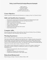 Entry Level Job Resume Template Examples Entry Level Job Resume Best