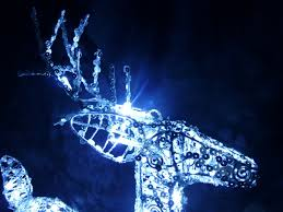 outdoor christmas ornaments uk. christmas decorations light up 50cm silver reindeer led lights outdoor indoor ornaments uk a