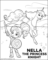 Small Picture Nella The Princess Knight Coloring Pages GetColoringPagescom