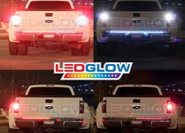 "ledglow 60"" red led truck tailgate light bar reverse 60 inch full size truck red led tailgate light bar reverse lights"