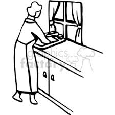 kitchen sink clipart black and white. royalty-free ppa0170 156087 clip art images, illustrations and royalty free image - # eps illustration | graphicsfactory.com kitchen sink clipart black white