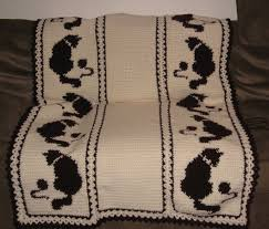 Crochet Cat Pattern Blanket