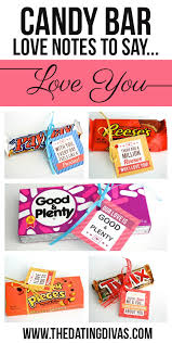 candy bar love note sayings