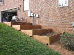 cool terraced raised garden bed back