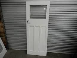 door timber 3 panel internal door with one glass pane 775w x 1950h ch1