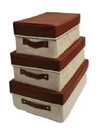Storage Boxes Decorative Fabric