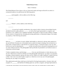 Model Release Form Free Template Word Pdf