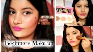 how to contour highlight apply blush for indian skin beginner s make up tutorial riya beauty