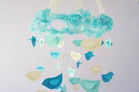 Turquoise Baby Shower Decorations Aqua Nursery Mobile Birds In Aqua Ivory Turquoise Nursery