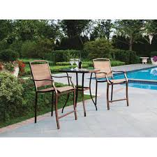 Mainstays Sand Dune <b>3</b>-<b>Piece</b> Outdoor <b>Bar</b> Height Bistro <b>Set</b> for ...