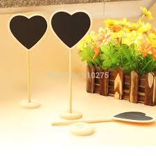 20 pcs lot diy love heart mini chalkboard blackboards signs wedding table decoration table numbers