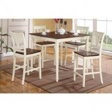 cherry counter height piece: petrich cherry and cream finished counter height  piece dining set