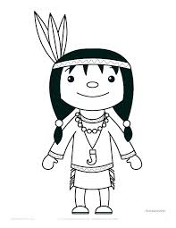 Free American Indian Coloring Pages Coloring Pages Thanksgiving