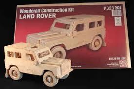 wooden construction 3d model land rover