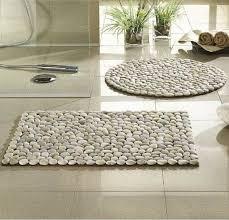 diy stone floor mat river stone bath mat