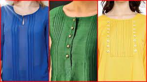 Pakistani Shirts Gala Designs Top Latest Neck Designs With Plates Pleats For Kurti Kurta