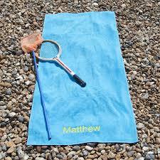 personalised luxury velour beach towel