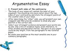 argumentative essay thesis statement argumentative essay argument lecture 7 argumentative essay
