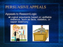 persuasion and rhetorical devices nonfiction unit and persuasive    persuasive appeals appeals to reason logic logical arguments based on verifiable evidence  such as