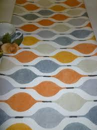 orange table runner gray funky modern
