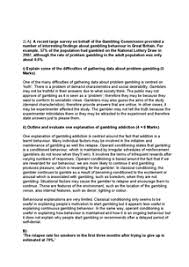 addiction essays psya document in a level and ib psychology page 1
